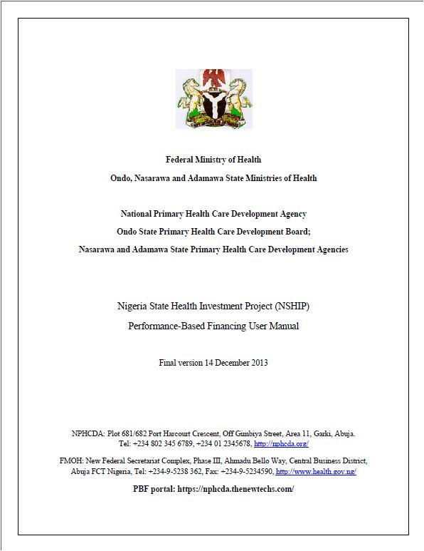 About the Nigeria State Health Investment Project